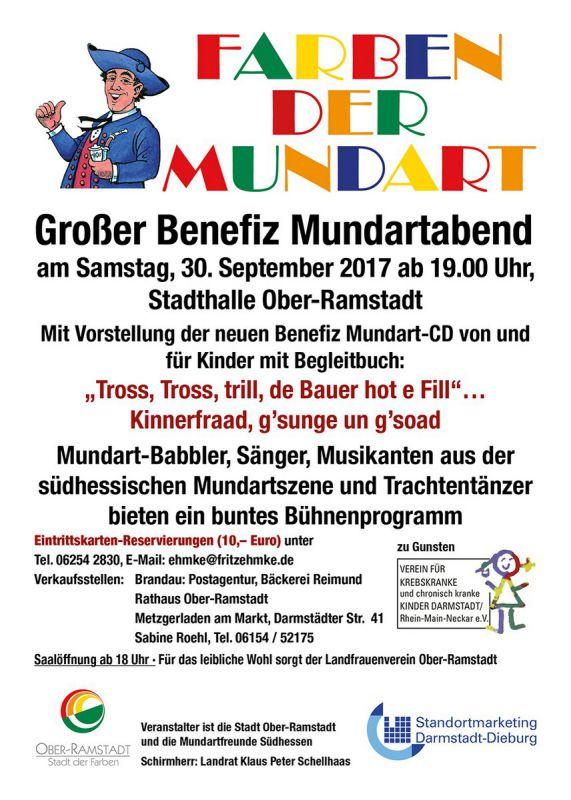 Farben der Mundart, Benefitzabend in der Stadthalle Ober-Ramsadt, 30.9.2017, 19.00 Uhr